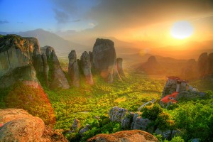Святые метеоры в Греции